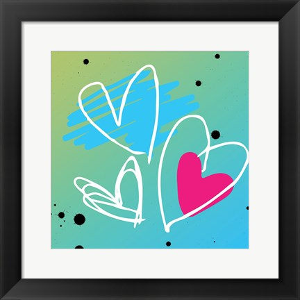 Framed Love is bright Print