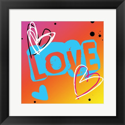Framed Love The Heart Print