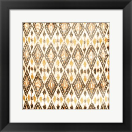 Framed Cream Diamonds Print
