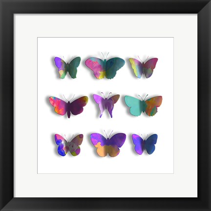 Framed Watercolor Butterfly Pop Mate Print