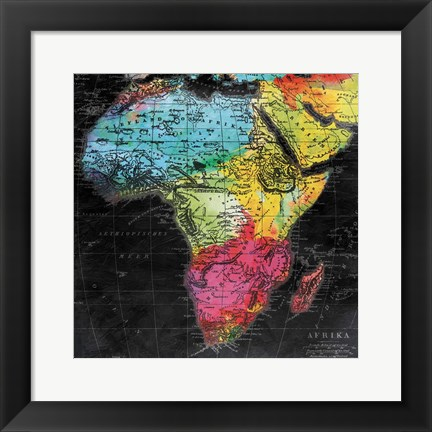 Framed Bright World Mate Print