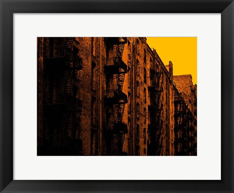 Framed Fire Escapes Print
