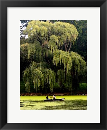 Framed Central Park Couple Summer Print