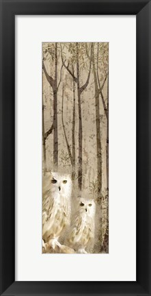 Framed Owls In the Trees Print