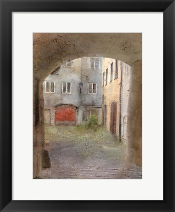 Framed Courtyard Print