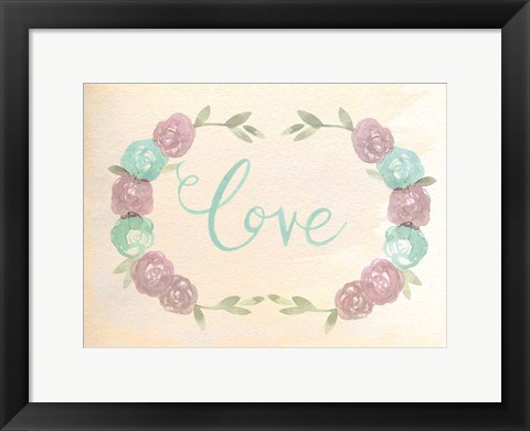 Framed Flowered Love Print