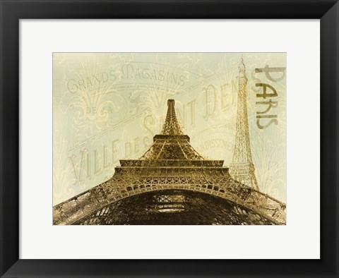 Framed Below The Eiffel Tower Print