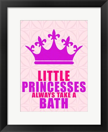 Framed Little Princesses Bath Print