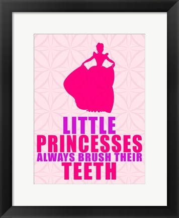 Framed Little Princesses Print