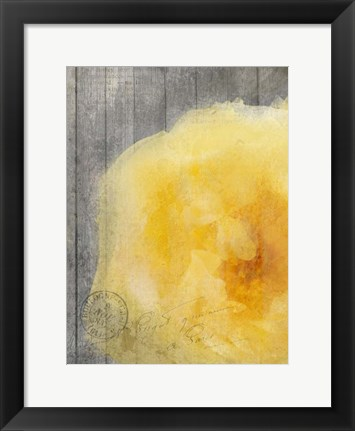 Framed Yellow Bloom Print