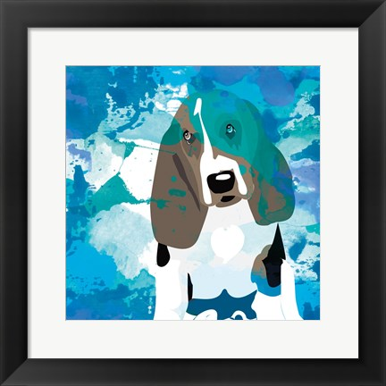 Framed Dog in Color 1 Print