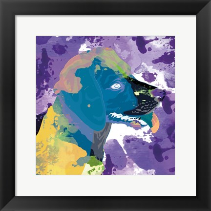 Framed Dog in Color 3 Print