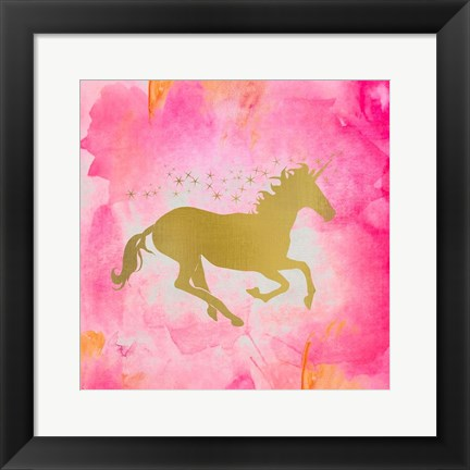 Framed Unicorn Square 1 Print