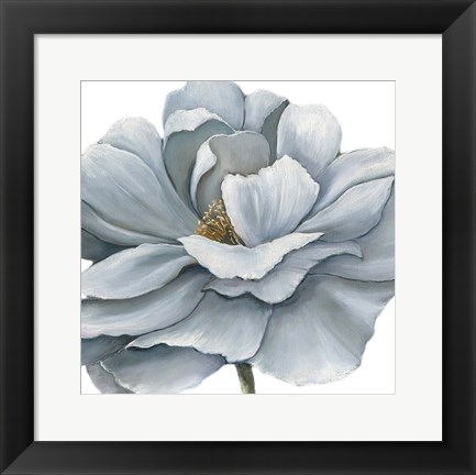 Framed Blue Silken Bloom Print