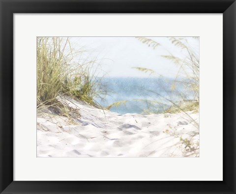 Framed Coastal Photograpy Textured Print
