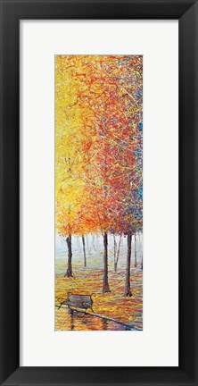 Framed Yellow Park Print