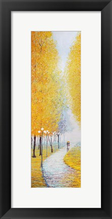 Framed Yellow Lane Print