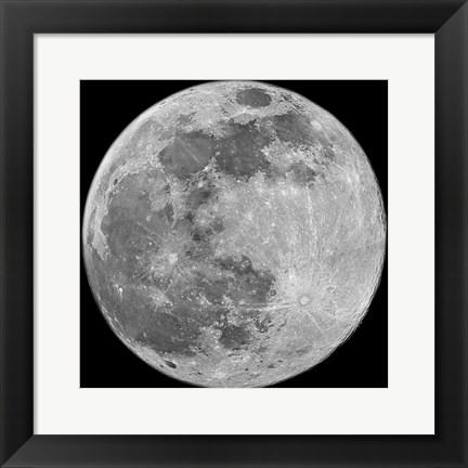 Framed To The Moon Print