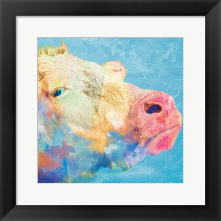 Framed Summer Time Angus Print