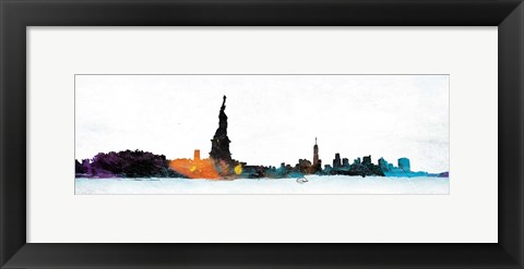 Framed NY Graph State Of Mind Print