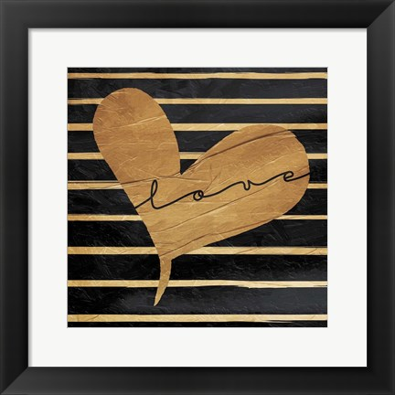 Framed Love Lines Print