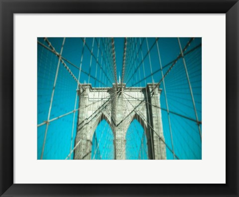 Framed Brooklyn Aqua Print
