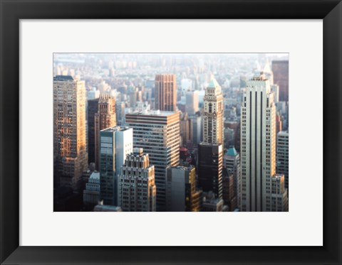 Framed Hazy NYC Skyline Print