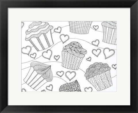Framed Cupcake Love Print