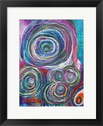 Framed Circular Abstraction Print