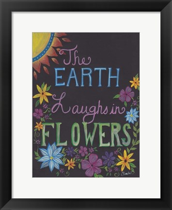 Framed Laughing Flowers Print