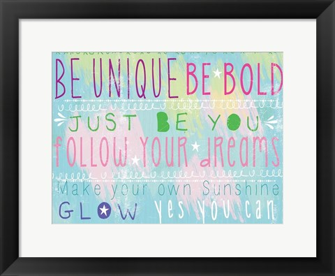 Framed Bright Inspiration 1 Print