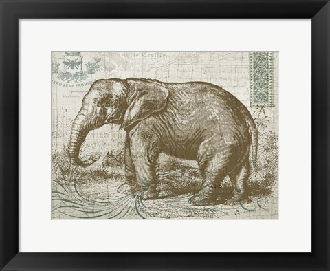 Framed Elegant Safari Elephant 1 Print
