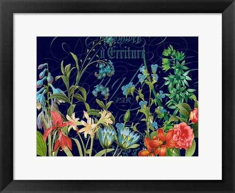 Framed Midnight Garden Print