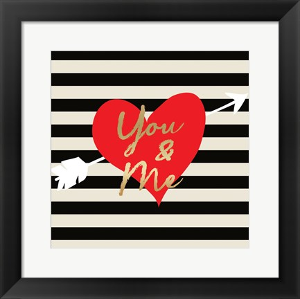 Framed Valentines Day Heart 2 Print