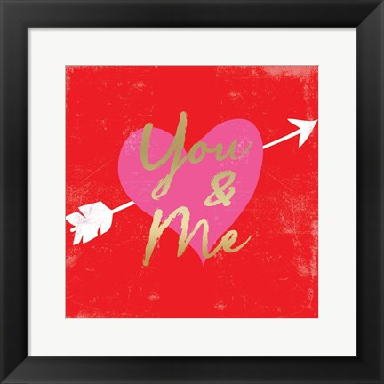 Framed Valentines Day Heart 5 Print