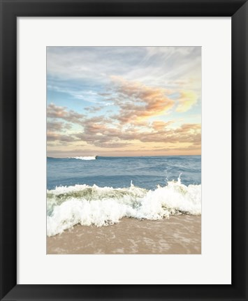 Framed Dawn Of The Crashing Waves Print