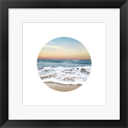 Framed Waves To Sea 1 Print