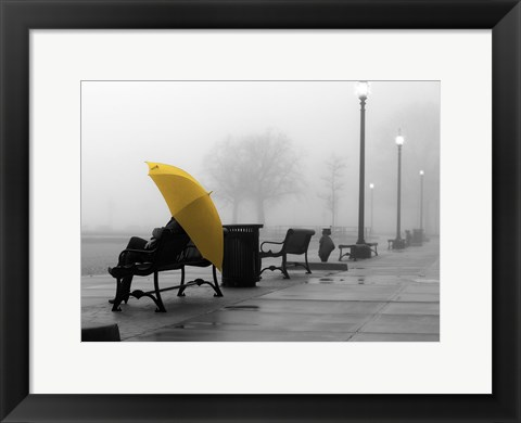 Framed Sitting In The Rain Print