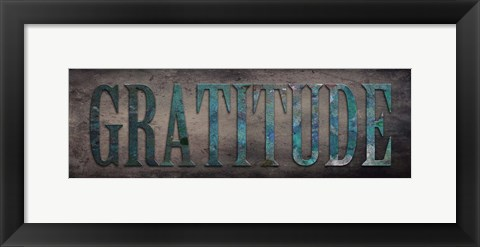 Framed Gratitude Sentiment Print