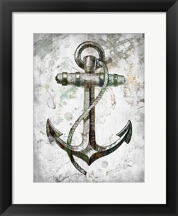 Framed Anchors Away Print