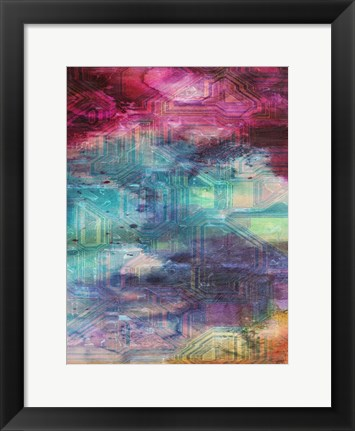 Framed Fifth Dimensional Color Drift Print