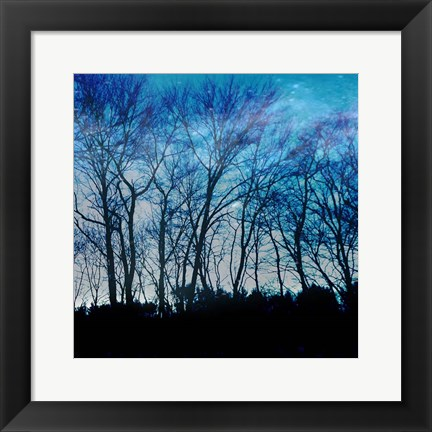 Framed Blue Mountain 1 Print