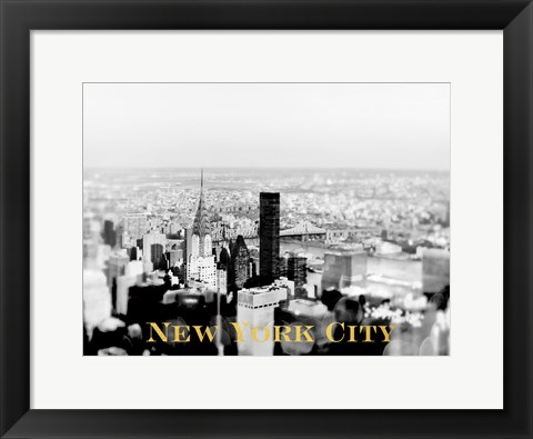 Framed NYC Skyline Gold Print