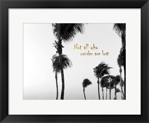 Framed Wandering Golden Palms Print