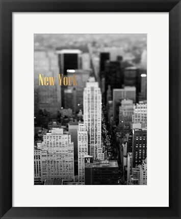 Framed Gold NY Fifth Ave Print