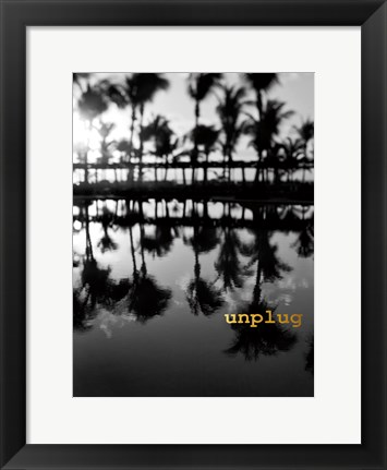 Framed Palms Unplugged Print