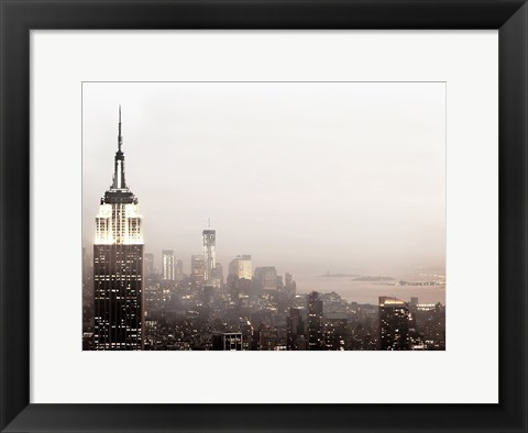 Framed Pale Manhattan Print