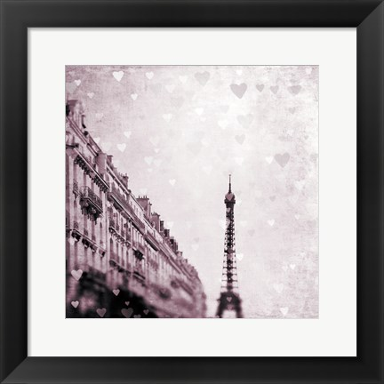 Framed Paris Heart Storm 1 Print