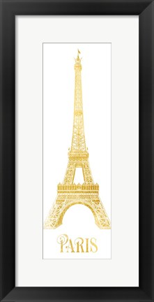 Framed Gold Foil Paris Print