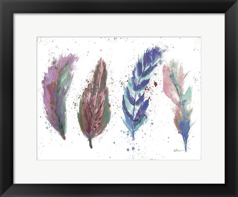 Framed Natures Feathers Print